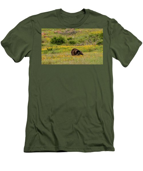 Turkey In Wichita Mountains Men's T-Shirt (Athletic Fit)
