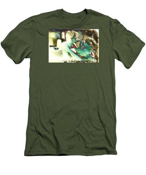 Turquoise Embrace Men's T-Shirt (Athletic Fit)