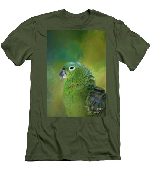 Turquoise-fronted Amazon Men's T-Shirt (Athletic Fit)