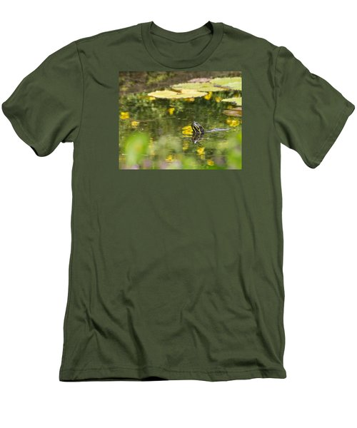 Men's T-Shirt (Athletic Fit) featuring the photograph Turtle  by Julie Andel
