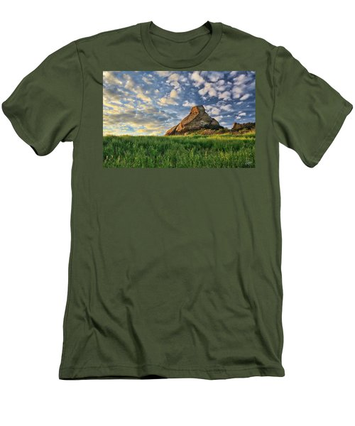 Turtle Rock At Sunset 2 Men's T-Shirt (Slim Fit) by Endre Balogh