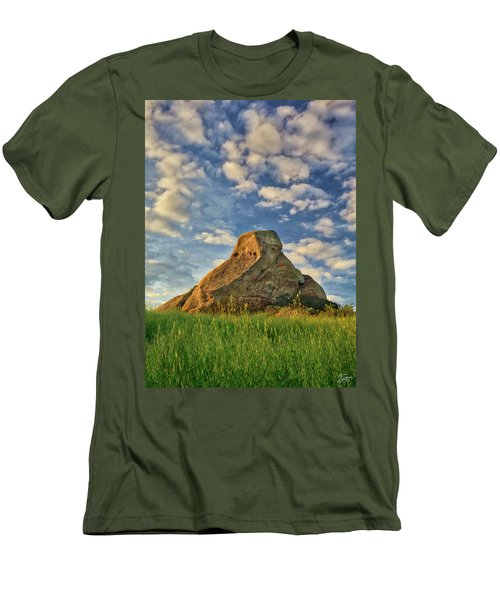 Turtle Rock Men's T-Shirt (Slim Fit) by Endre Balogh