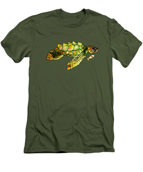 Turtle Talk Men's T-Shirt (Slim Fit) by Candace Ho