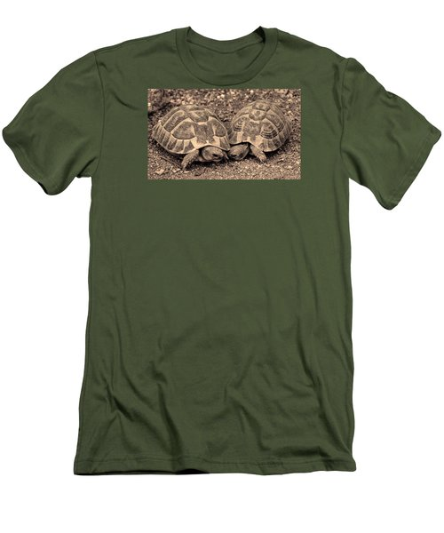 Men's T-Shirt (Slim Fit) featuring the photograph Turtles Pair by Gina Dsgn