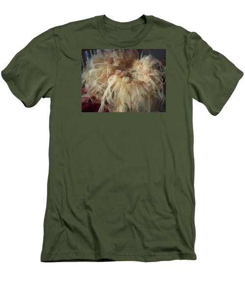 Men's T-Shirt (Slim Fit) featuring the painting Tutu by Judith Desrosiers