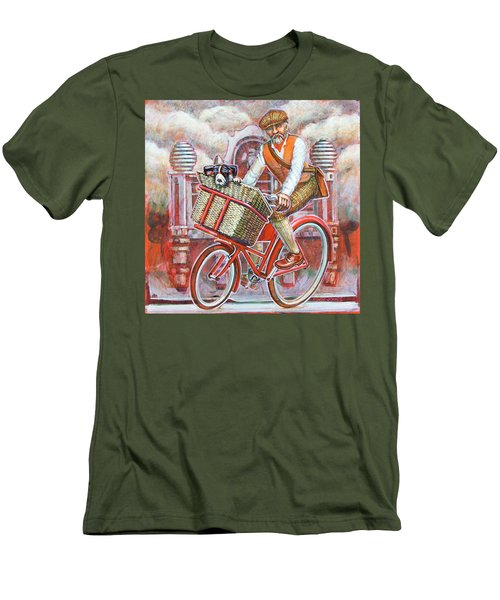 Tweed Runner On Red Pashley Men's T-Shirt (Athletic Fit)