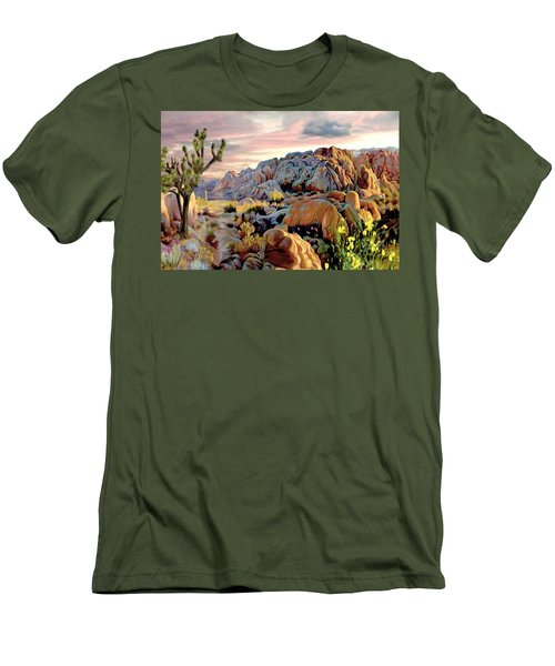 Twilight At Joshua Men's T-Shirt (Slim Fit) by Ron Chambers