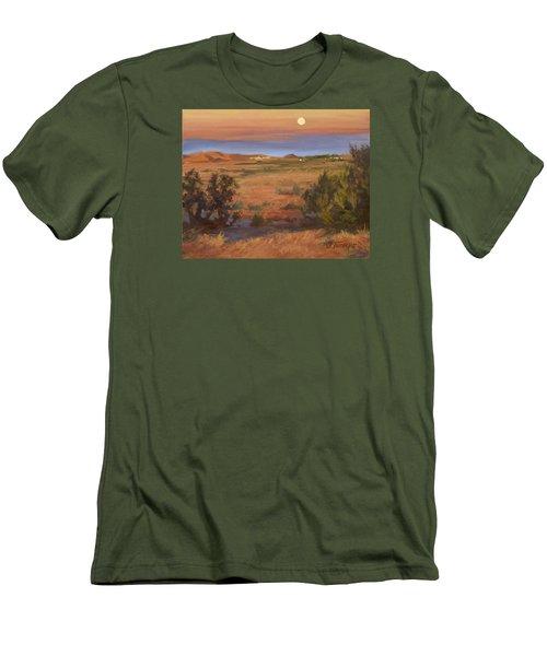 Twilight Moonrise, Valyermo Men's T-Shirt (Slim Fit) by Jane Thorpe