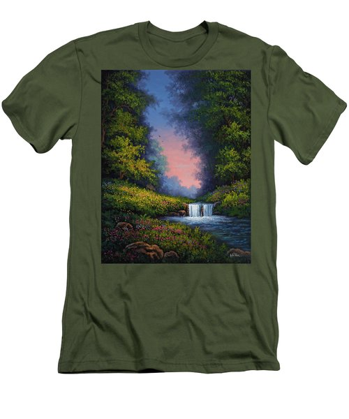 Twilight Whisper Men's T-Shirt (Slim Fit) by Kyle Wood