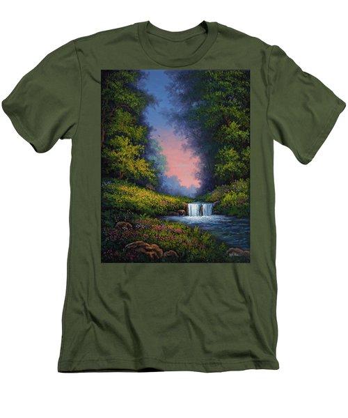 Twilight Whisper Men's T-Shirt (Athletic Fit)