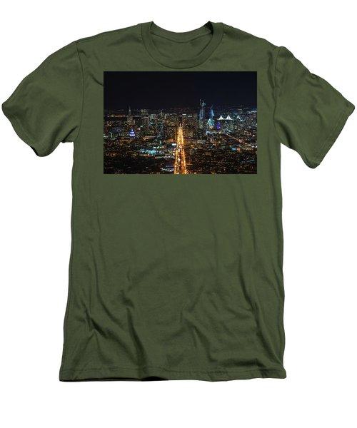 Twin Peaks Men's T-Shirt (Slim Fit) by Alpha Wanderlust
