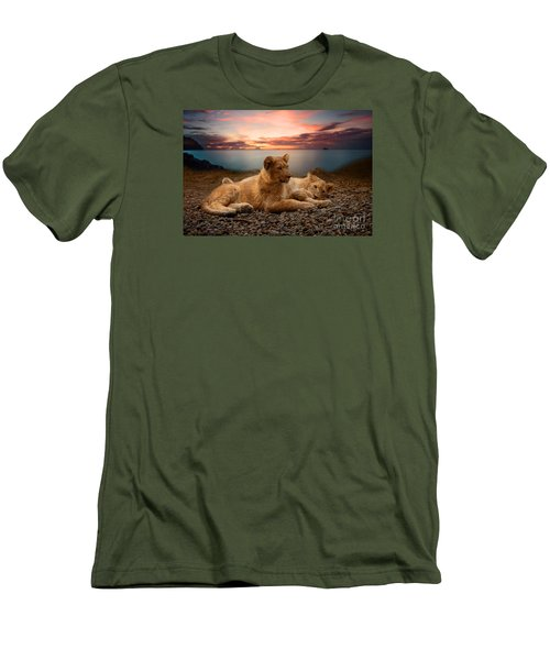 Men's T-Shirt (Slim Fit) featuring the photograph Two by Christine Sponchia
