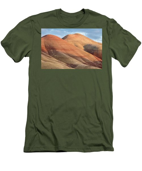 Men's T-Shirt (Slim Fit) featuring the photograph Two Painted Hills by Greg Nyquist