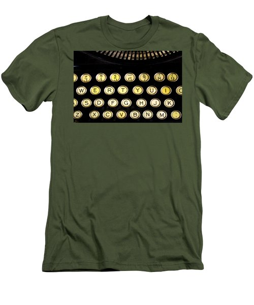 Typewriter Men's T-Shirt (Slim Fit) by Christopher Woods