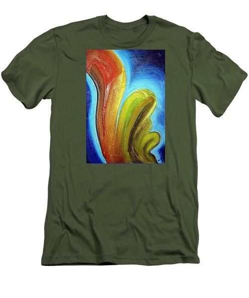 Men's T-Shirt (Slim Fit) featuring the mixed media Tzunami by Dragica  Micki Fortuna