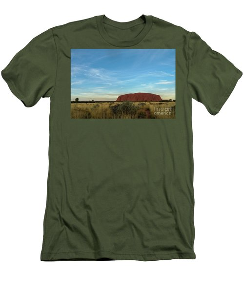 Men's T-Shirt (Athletic Fit) featuring the photograph Uluru Sunset 02 by Werner Padarin