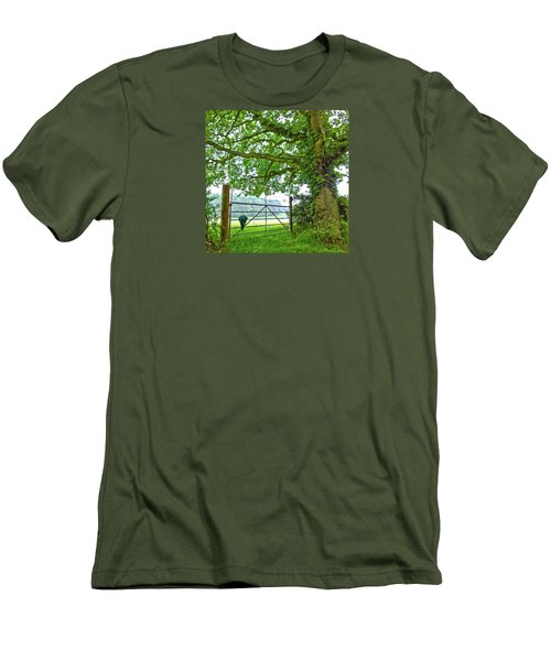 Men's T-Shirt (Athletic Fit) featuring the photograph Umbrella At The Ready by Anne Kotan