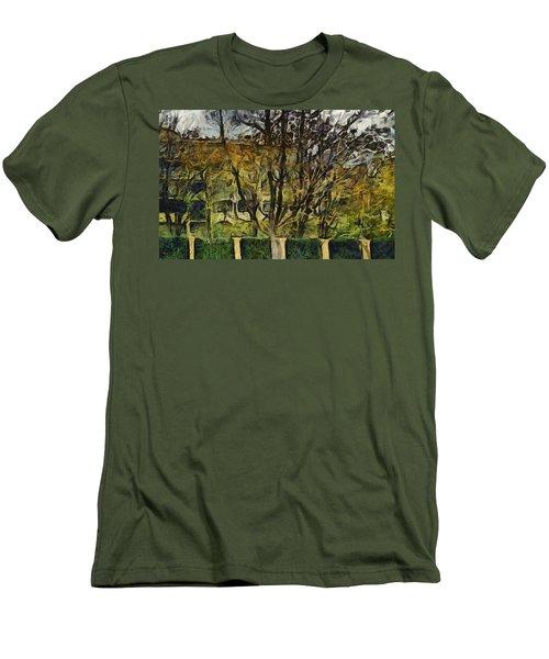 Un Cheteau Dans Le Paradis - One Of Two  Men's T-Shirt (Slim Fit) by Sir Josef - Social Critic -  Maha Art