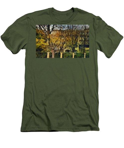 Un Cheteau Dans Le Paradis - Two Of Two  Men's T-Shirt (Slim Fit) by Sir Josef - Social Critic -  Maha Art