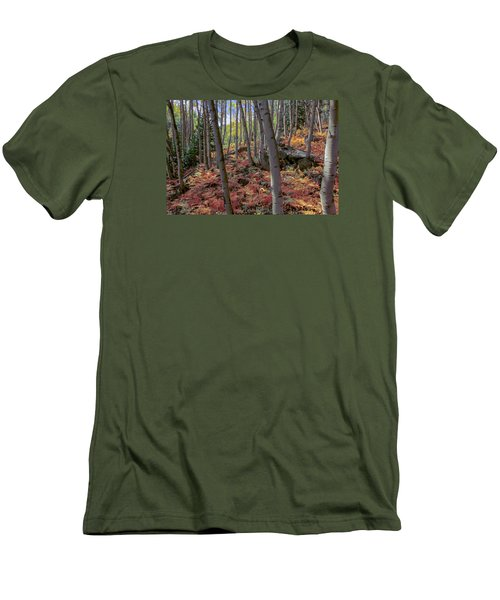 Under The Aspens Men's T-Shirt (Slim Fit) by Perspective Imagery