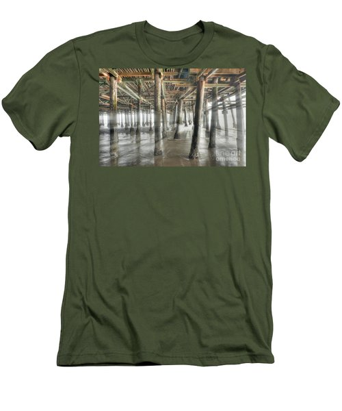 Men's T-Shirt (Slim Fit) featuring the photograph Under The Boardwalk Into The Light by David Zanzinger