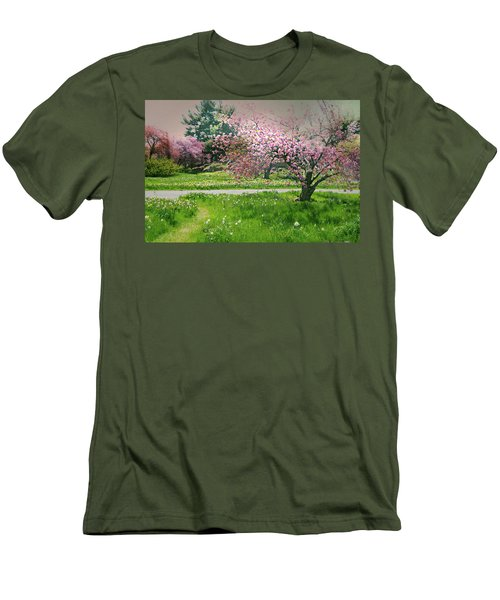 Men's T-Shirt (Slim Fit) featuring the photograph Under The Cherry Tree by Diana Angstadt