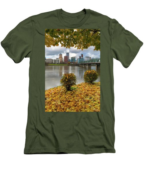 Under The Maple Tree In Portland Oregon During Fall Men's T-Shirt (Athletic Fit)