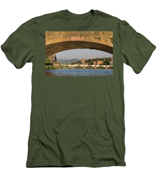 Under The Ponte Santa Trinita Men's T-Shirt (Athletic Fit)