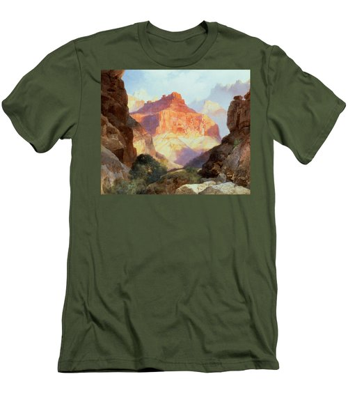 Under The Red Wall Men's T-Shirt (Slim Fit) by Thomas Moran