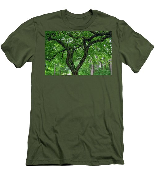 Men's T-Shirt (Athletic Fit) featuring the photograph Under The Shade Tree by Tikvah's Hope