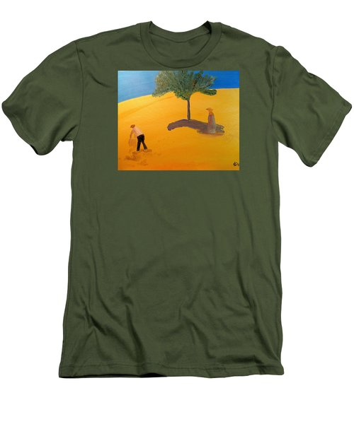 Men's T-Shirt (Slim Fit) featuring the painting Under The Tuscan Sun by Bill OConnor