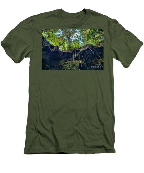 Men's T-Shirt (Slim Fit) featuring the photograph Underground by DJ Florek
