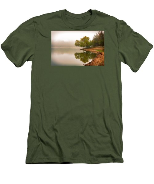 Unger Park Lake At Dawn Men's T-Shirt (Slim Fit) by Robert FERD Frank