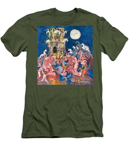 Unicorns Take Castle Men's T-Shirt (Athletic Fit)