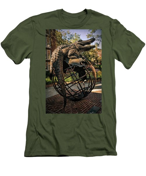Men's T-Shirt (Slim Fit) featuring the photograph University Of Florida Sculpture by Joan Carroll