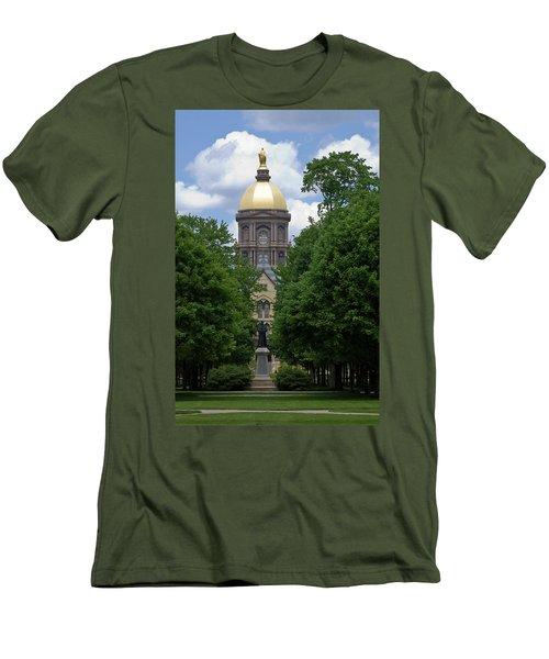 University Of Notre Dame Golden Dome Men's T-Shirt (Athletic Fit)