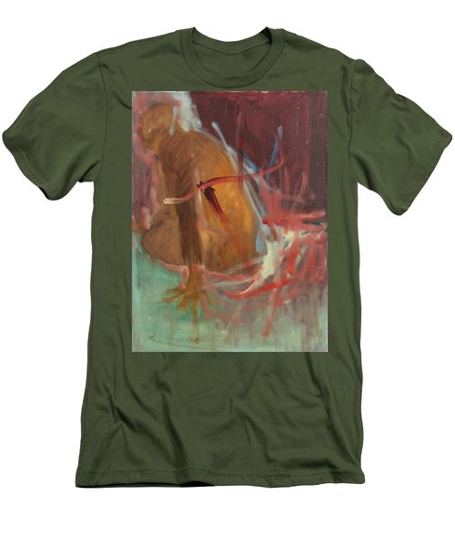 Men's T-Shirt (Slim Fit) featuring the painting Unquiet by Daun Soden-Greene