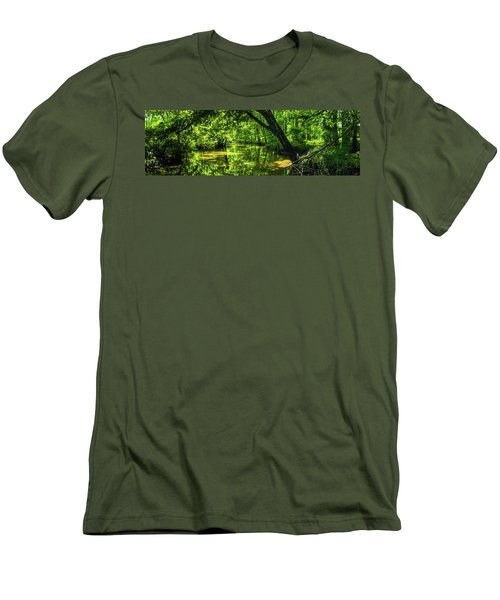 Unseen Critters Of The Lost Bayou Men's T-Shirt (Slim Fit) by Kimo Fernandez