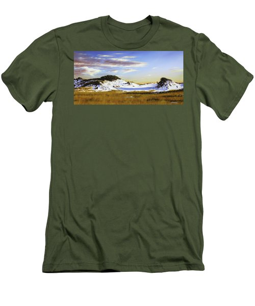 Men's T-Shirt (Slim Fit) featuring the painting Unwalked by Rick McKinney