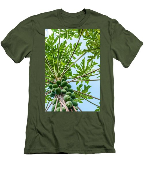 Up The Papaya Men's T-Shirt (Slim Fit) by Denise Bird