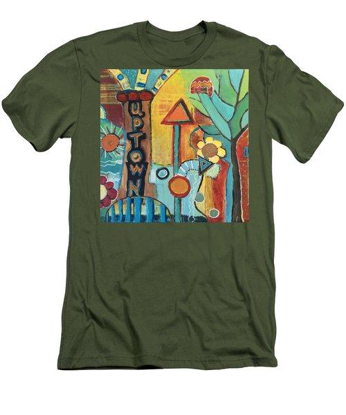 Uptown Dream World Men's T-Shirt (Slim Fit) by Susan Stone
