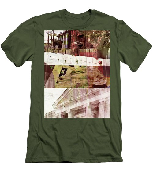 Men's T-Shirt (Slim Fit) featuring the photograph Uptown Library With Color by Susan Stone