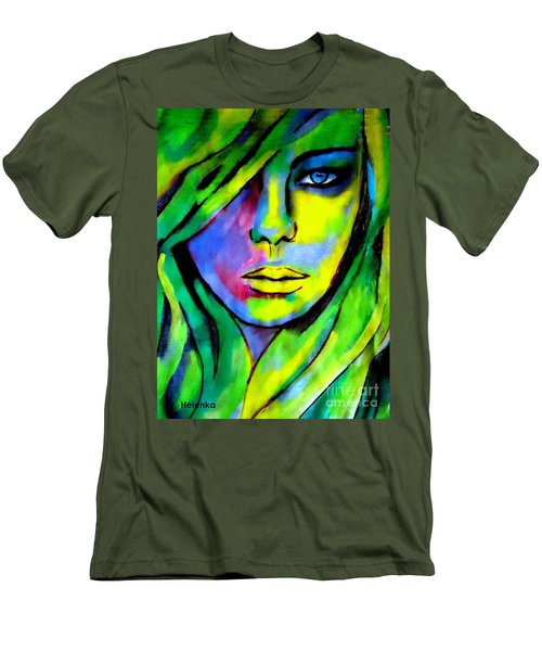 Urban Camouflage Men's T-Shirt (Slim Fit) by Helena Wierzbicki