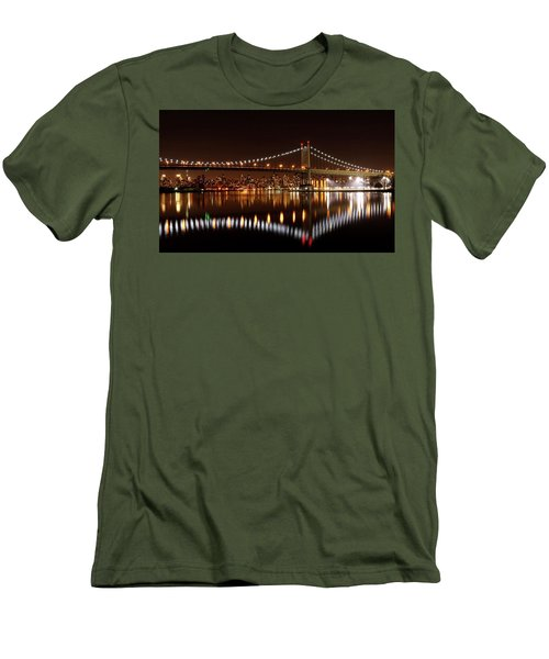 Urban Night Reflection Men's T-Shirt (Athletic Fit)
