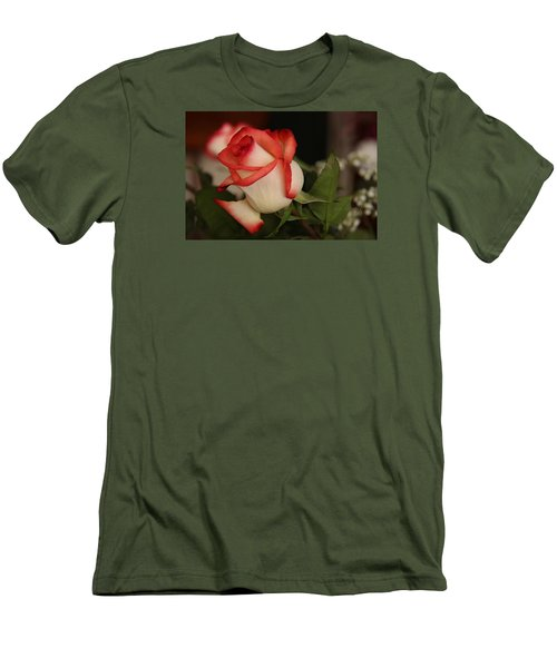 Valentine Rose Men's T-Shirt (Slim Fit) by Yvonne Wright