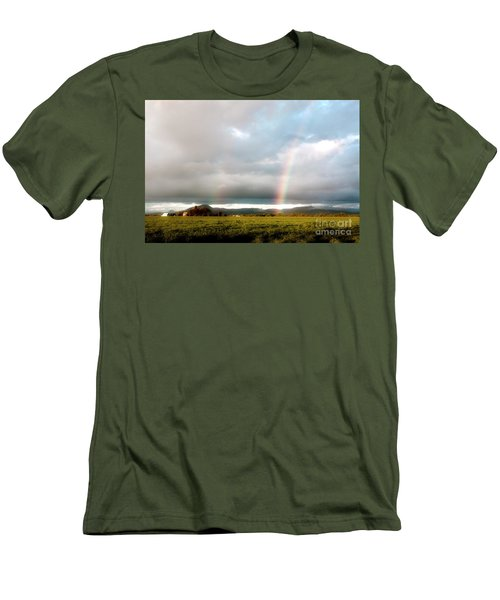 Valley Rainbows 1 Men's T-Shirt (Slim Fit) by Janie Johnson