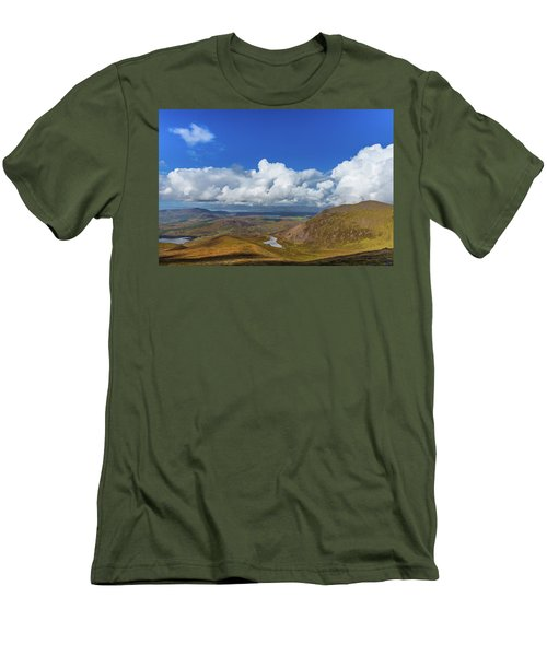 Men's T-Shirt (Slim Fit) featuring the photograph Valleys And Mountains In County Kerry On A Summer Day by Semmick Photo