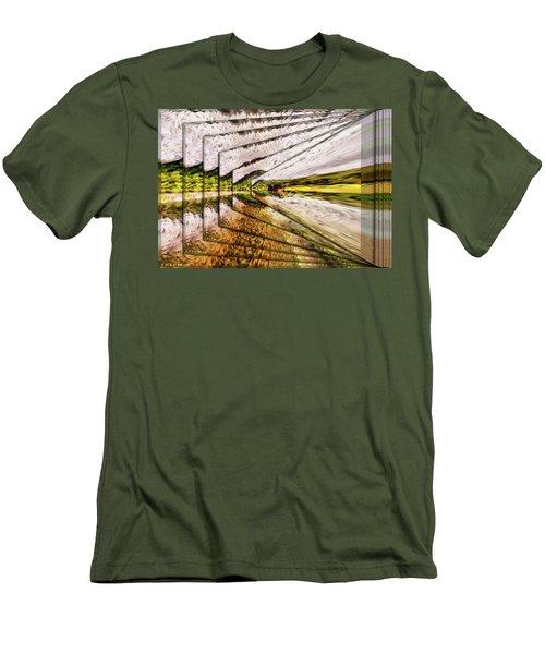Van Gogh Perspective Men's T-Shirt (Slim Fit) by Mario Carini