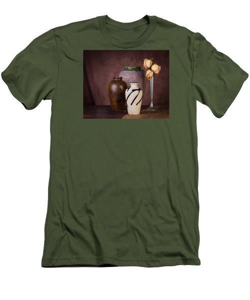 Vase And Roses Still Life Men's T-Shirt (Athletic Fit)