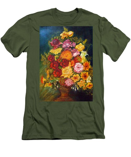 Vase With Flowers Men's T-Shirt (Athletic Fit)